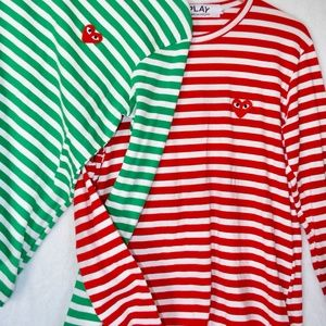 Play Comme des Garçons TWO SHIRTS striped XL